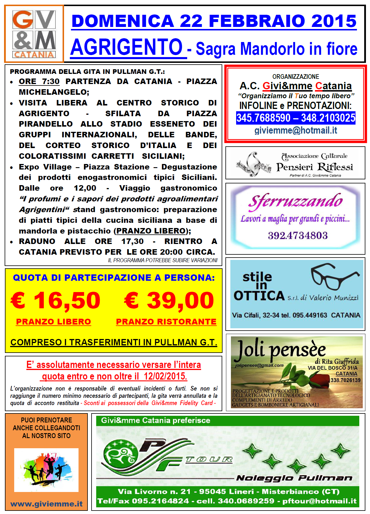Locandina gita Agrigento_2015