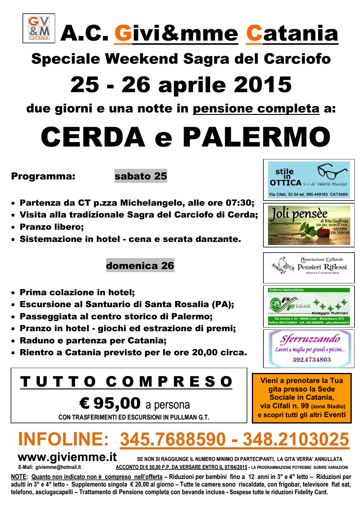 Locandina Ponte 25 aprile 2015 con partner