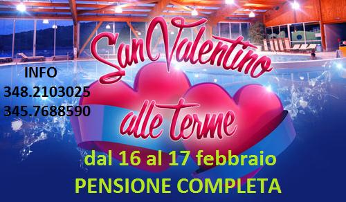 16 e 17 Febbrario 2019 – San Valentino alle terme